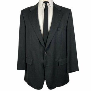 Brooks Brothers Sport Coat Blazer 46L Wool Gray